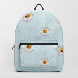 Daisies in love- blue pattern Backpack