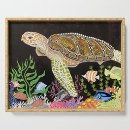 Sea Turtle, Reef Fish Serving Tray