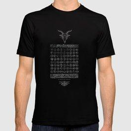 Occult 72 Sigils Of Goetia Demonic Unholy Death design T-shirt