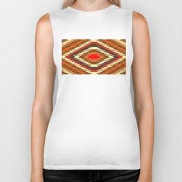 american native traditional ethnic costume motif seamless pattern Biker Tank