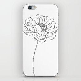 Single flower line drawing - Hazel iPhone Skin