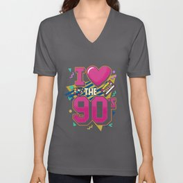 I Love The 90s - Retro Vintage T-Shirt Unisex V-Neck