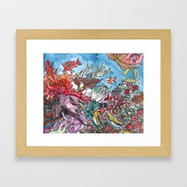 Sleeping with the Fishes Framed Art Print