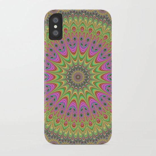 Floral ornament mandala iPhone Case