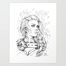 The Daughter of the Sea Art Print