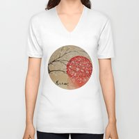japan V-neck T-shirts featuring Japan by Japan Art