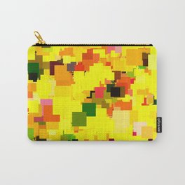 geometric square pattern pixel abstract background in yellow orange green red Carry-All Pouch