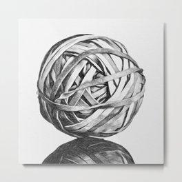 Rubber Band Ball Metal Print