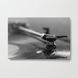 Needle on the Record Metal Print