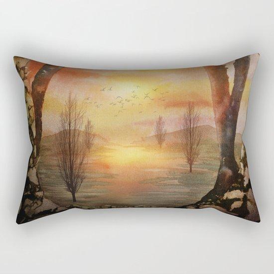 Calling The Sun XX Rectangular Pillow