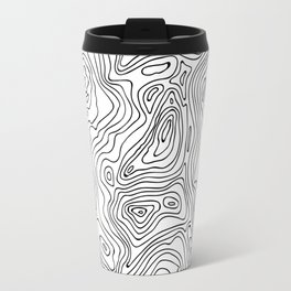 minimal abstract wood Travel Mug