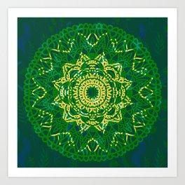 Mandala la la la  Art Print