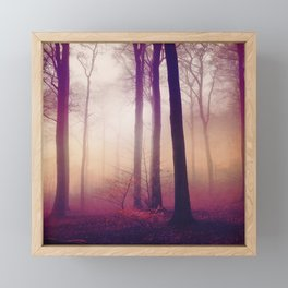 mysts - winter forest in fog Framed Mini Art Print