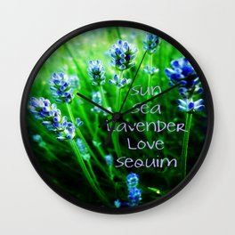 Sun Sea Lavender Love Sequim Wall Clock