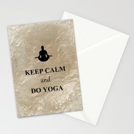 Keep Calm and Do Yoga Stationery Cards