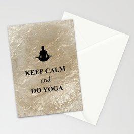 Keep Calm and Do Yoga Stationery Cards