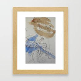 mando and mic Framed Art Print