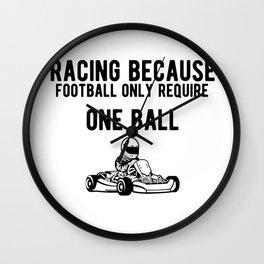Funny Gokart Racing Car Driver Graphic Wall Clock