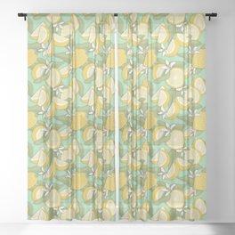 Lemon Pattern 03 Sheer Curtain