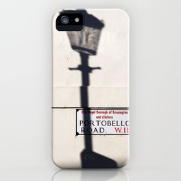 Portobello Road Sign, London, England iPhone Case
