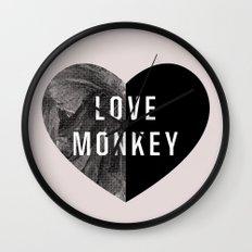 Love Monkey Wall Clock