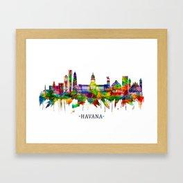 Havana Cuba Skyline Framed Art Print