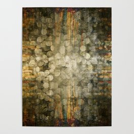 """""""Abstract golden river pebbles"""" Poster"""