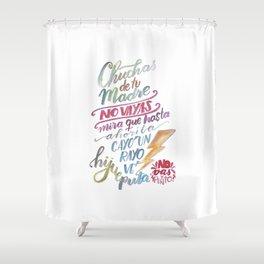 No vas y punto Shower Curtain
