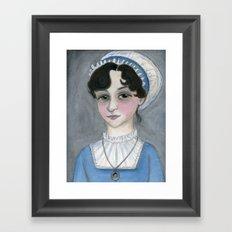 Jane Austen and Her Lost Heart Framed Art Print