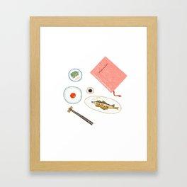 Table Setup Framed Art Print