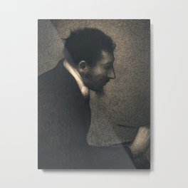 Aman-Jean (Portrait of Edmond François Aman-Jean) Metal Print