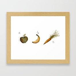 Alphabet Food Framed Art Print