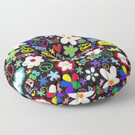 PMO colorful collage Floor Pillow