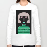 french Long Sleeve T-shirts featuring French by Julieta Gutnisky