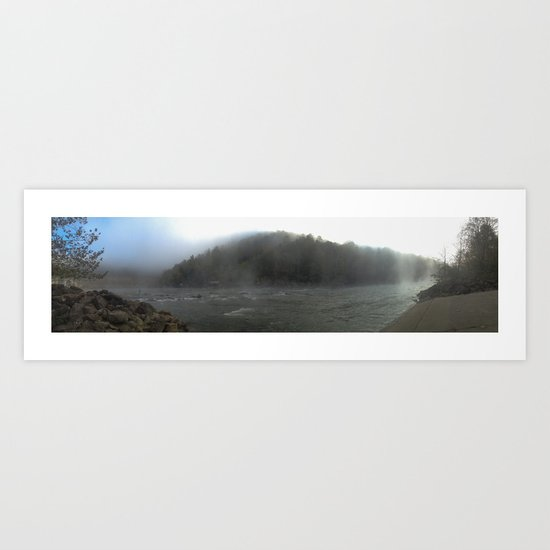 Fog on the River Art Print