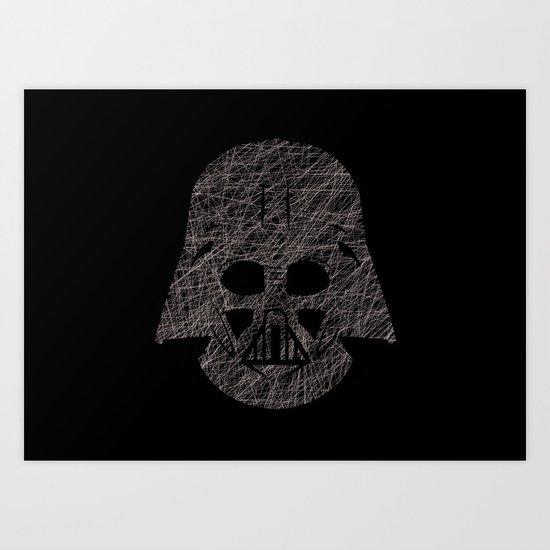 Lines of Vader Art Print