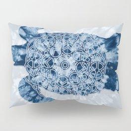 Indigo Blue Loggerhead Turtle Mandala Pillow Sham