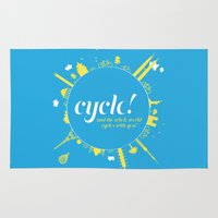 cycle Area & Throw Rugs featuring Cycle! by Geminianum