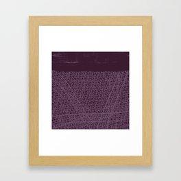 Purple Horizon - Irregular Lines And Paint Framed Art Print