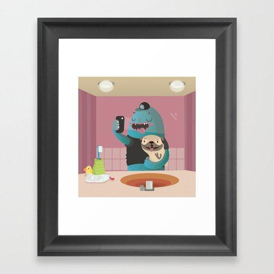 Bathroom Selfie Framed Art Print By Maria Jose Da Luz Society6