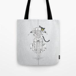 Cat Chicken Motorcycle Art Print Tote Bag