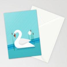 Majestic Swan Stationery Cards
