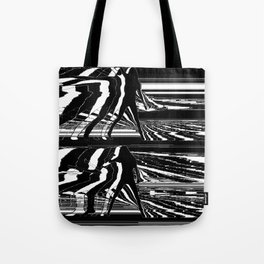 Black & White Glitch Tote Bag
