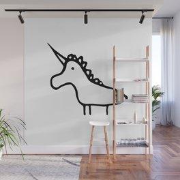 Animals facing left Unicorn Wall Mural