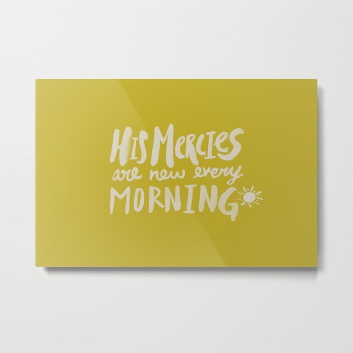 Mercy Morning x Mustard Metal Print