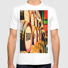 Roll 'Em In MEDIUM Mens Fitted Tee White