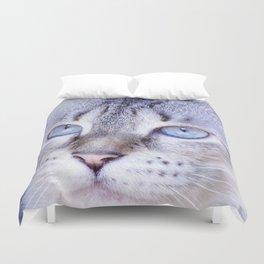 kitten blue yes Duvet Cover