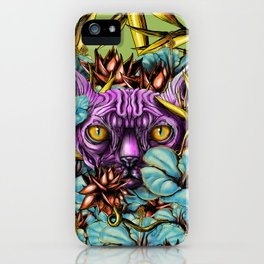 The Sphynx and the Flowers iPhone Case