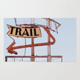The Spanish Trail - Vintage Neon Sign Rug