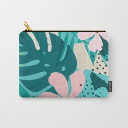 Flowers and Leaves Pattern Carry-All Pouch